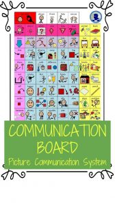 Communication Board from NoodleNook for PECS and Picture Supported Communication System