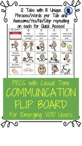 Communication Flip Board from NoodleNook for PECS and VOD Training