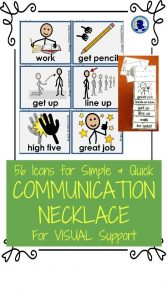 Communication Necklace from NoodleNook for PECS and Quick Visual Support
