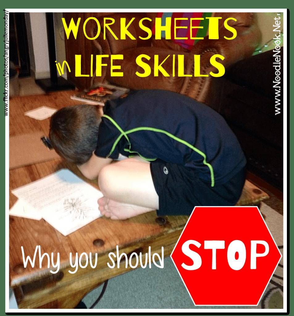 LIFE Skills Worksheets NoodleNookNet – Life Skills Worksheets