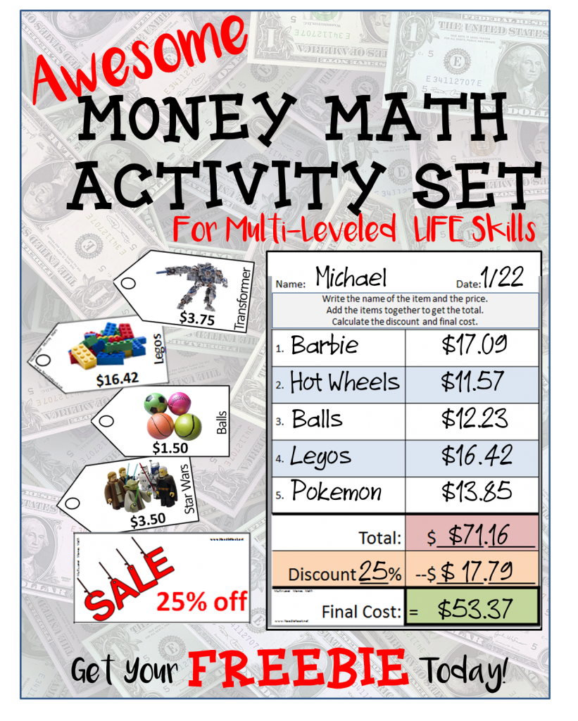 Free Money Math Activity From Noodlenook For Centers Great For