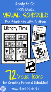 Visual Schedule for Students with Autism- Printable & Ready to Go! from NoodleNook.Net