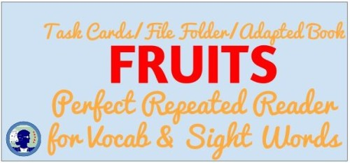 I Like Fruits as a Folder Game or Task Card Set or Adapted Book from www.NoodleNook.Net- Totally love it