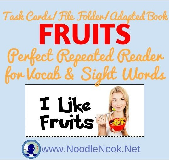 I Like Fruits via www.NoodleNook.Net- I totally love the vivid images and the multi-use