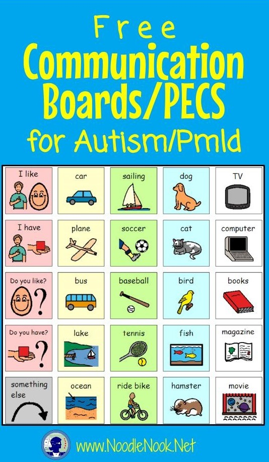 Awesome FREE Communication Boards and PECS for Autism Units and AAC.