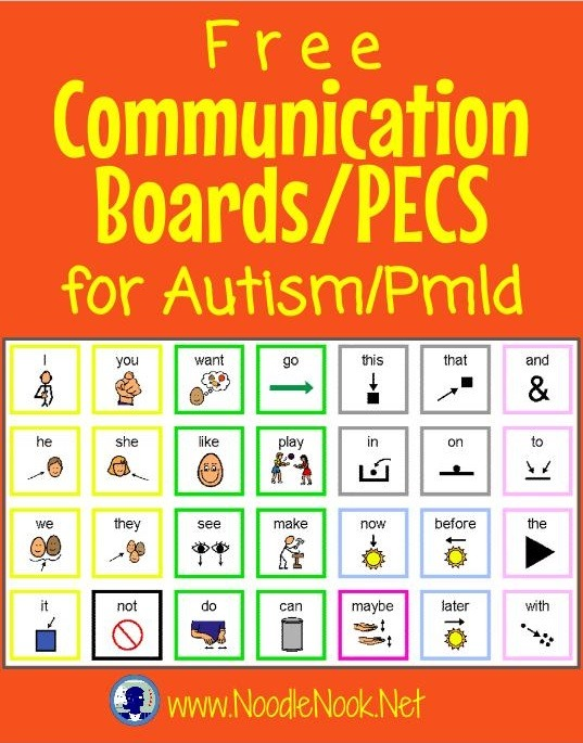 FREE Communication Boards and PECS for Autism Units and AAC.