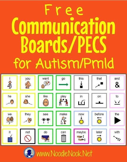 Free Communication Boards Autism Noodlenook Net
