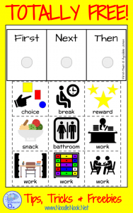 First Then Chart- an Instructional Tool for Autism. TOTALLY FREE!