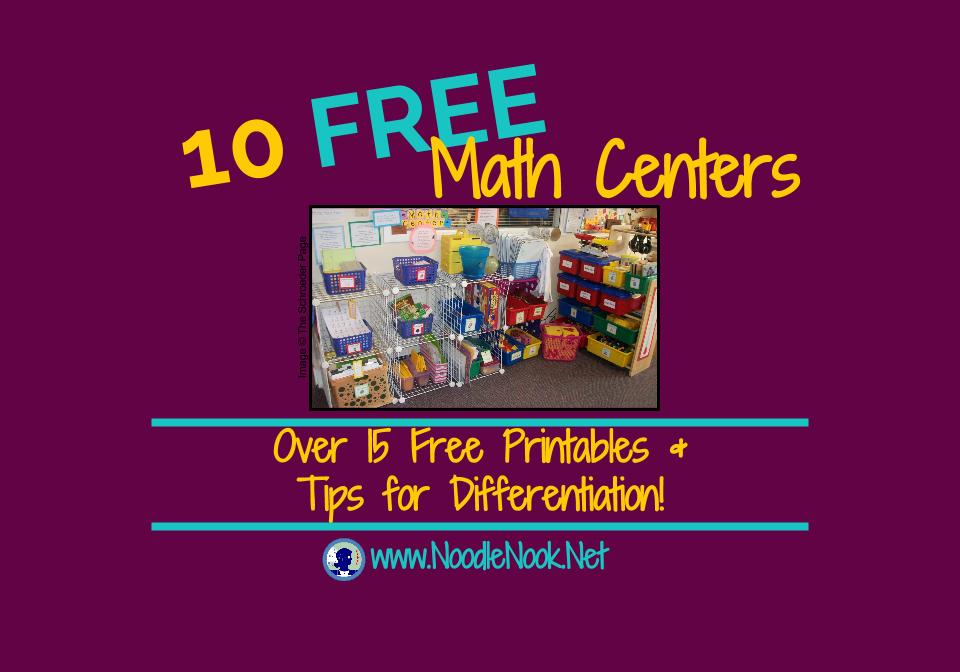 10 Free Printable Math Centers