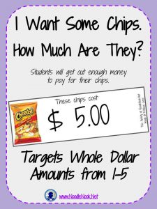 Money Math Activity or Center- I Want Chips