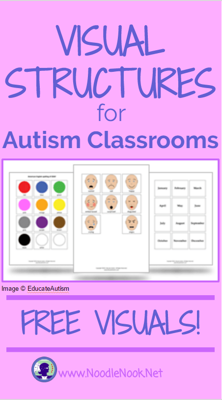 Visual Structure for Autism Classrooms | NoodleNook.Net