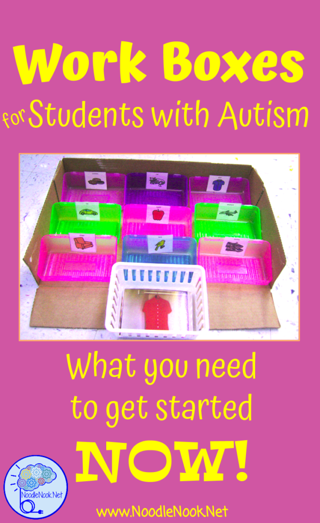 Work Boxes for Autism Units or LIFE Skills- What you need to get started and why!