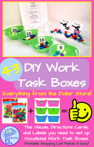 43 Dollar Store DIY work Tasks for Vocational Training and more!