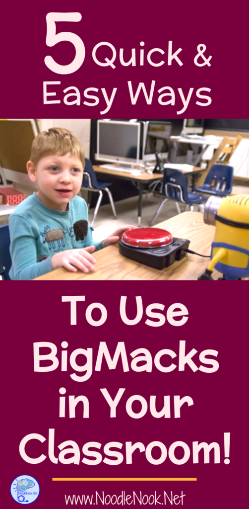 Looking for some easy ways to use BIGMacks in your classroom? Here are 5 quick and easy ideas that will help!