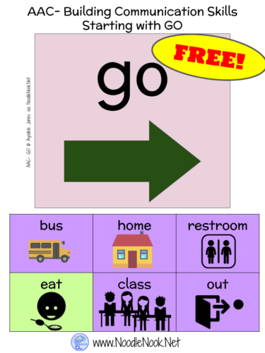Perfect AAC Starter tool to put near the door in your classroom- and FREE too!