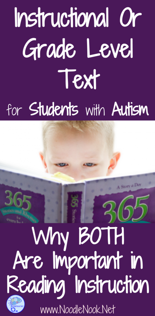 Ever wonder about instructional text versus grade level text when teaching literacy to students with Autism and significant disabilities? We have some answers!