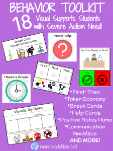 Behavior Toolkit-Visual Supports for Students with Autism from NoodleNook