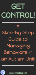 Get Control! A Step-by-Step Guide to Managing Behaviors in an Autism Unit