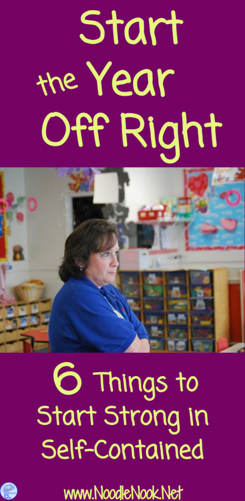 Real and actionable ways to start the year off right in Autism units or self-contained.