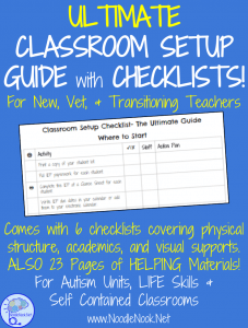 The Ultimate Guide and Checklist to Setup a Self Contained Classroom or Autism Unit