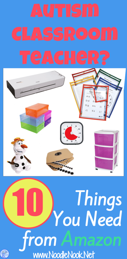 Autism Classroom Setup: These are the 10 things every Autism Classroom Teacher Needs from Amazon. Yeah, you'll love number 11!