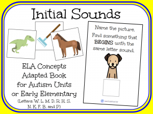Initial Sounds- An Adapted Book