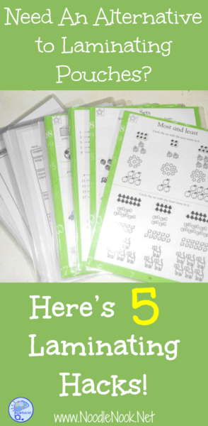 Are you looking for a cheap and easy alternative to laminating pouches? We've got 5 laminating hacks for teachers plus a bonus you can find in your kitchen!