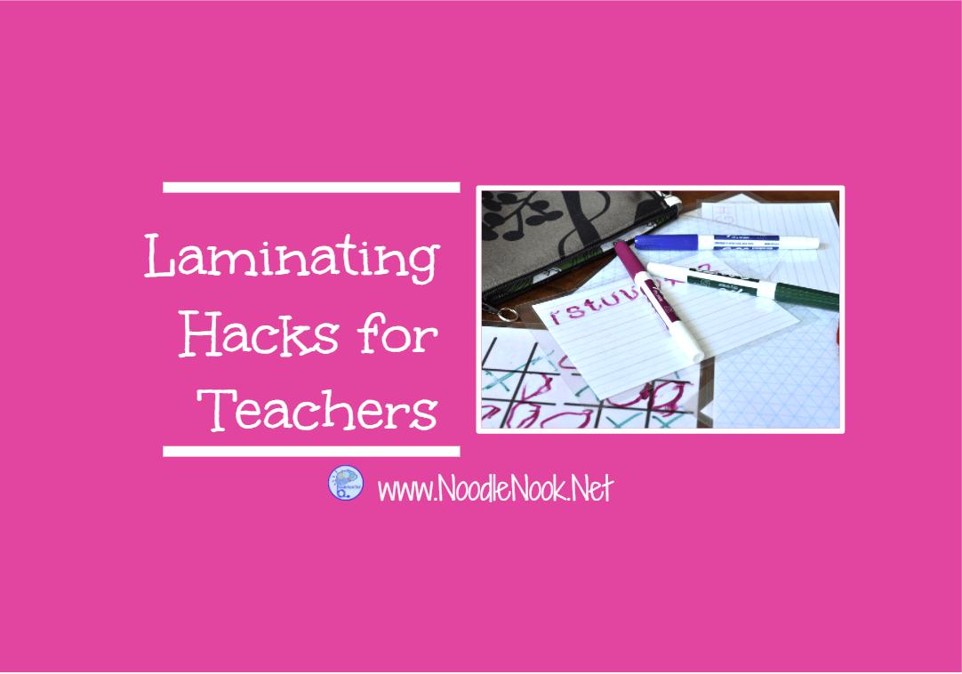 Laminating Hacks For Teachers