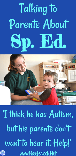 What can you do as a teacher when a parent doesn't want to hear their child may have Autism or need special education? Read more...