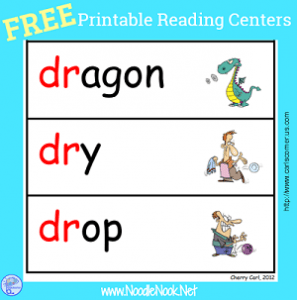 FREE Printable Reading and Writing Centers via NoodleNook.Net