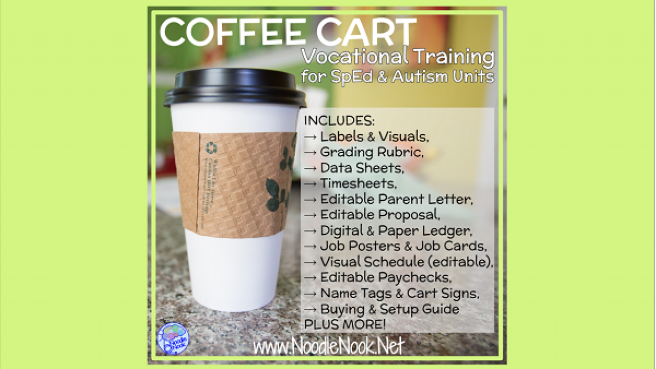 Coffee Cart For Vocational Training In Sped Or Autism Units