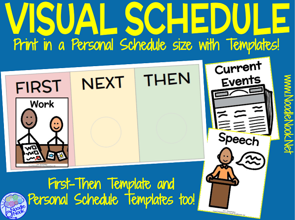 Personalized Visual Schedule for SpEd. and Autism Units | Noodle Nook