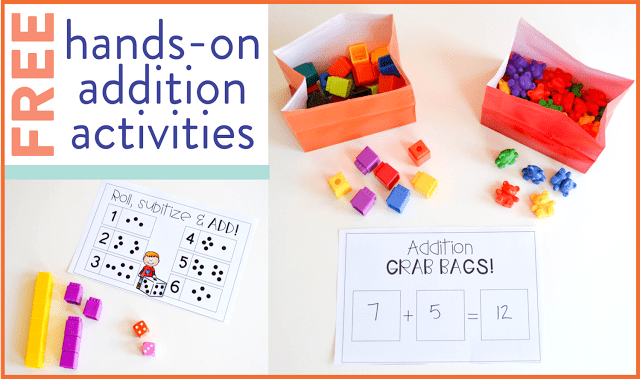 Ambitious image in printable math centers
