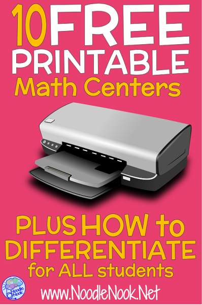 It's just a picture of Selective Printable Math Centers