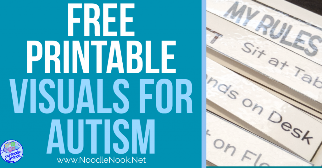 Printable Visuals For Autism Units Free Tools For Sped Teachers